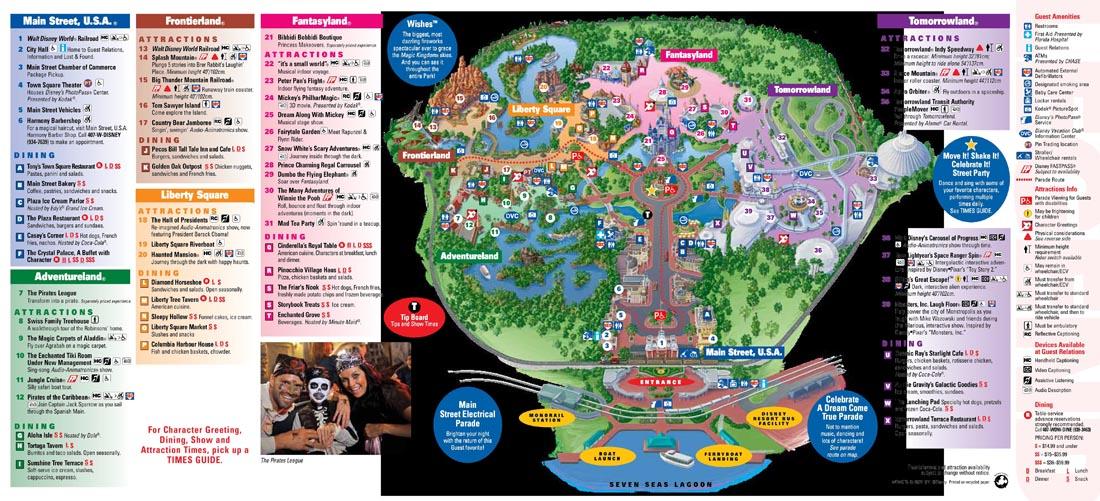 Park Map - Magic Kingdom (Sep 2011) - Park Maps - Fort Fiends