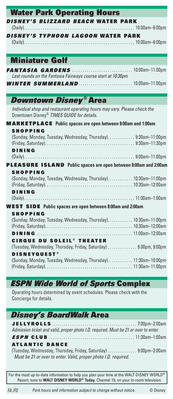 100 walt disney world resort park hours dog policies and